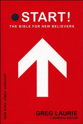 NKJV Start! The Bible for New Believers - Hardcover Red  - Slightly Imperfect  -