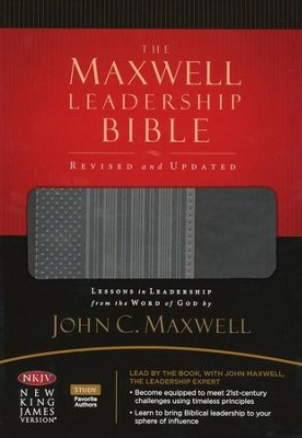 NKJV The Maxwell Leadership Bible: LeatherSoft/Charcoal Gray (Revised and Updated)  -     By: John C. Maxwell