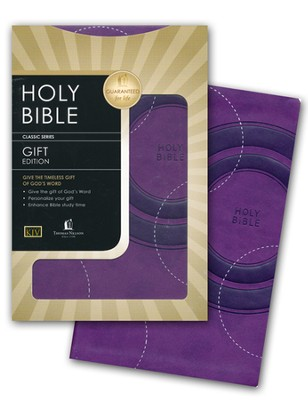 KJV Gift Bible - LeatherSoft/Grape   -
