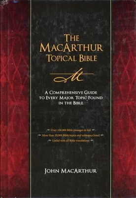 The MacArthur Topical Bible: A Comprehensive Guide to Every Major Topic Found in the Bible - Slightly Imperfect  -