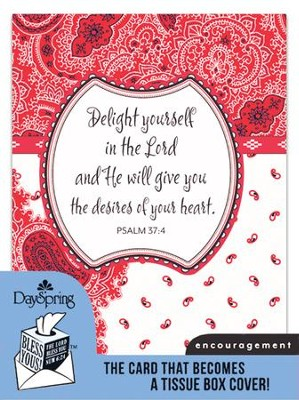 Delight In the Lord, Encouragement Card and Tissue Box Cover  -