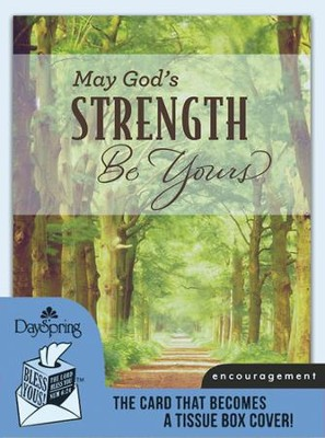 God's Strength, Encouragement Card and Tissue Box Cover  -