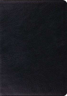 ESV Study Bible, Black Genuine Leather, Indexed  -
