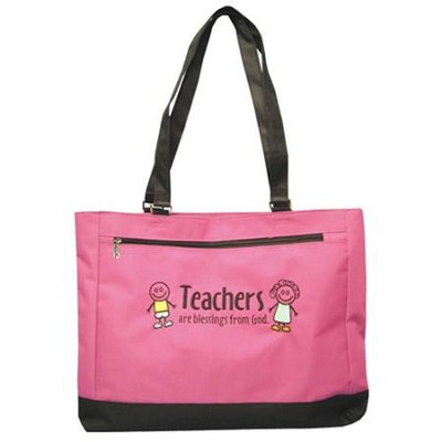 Teachers are a Blessing Pink and Black Tote, Small   -