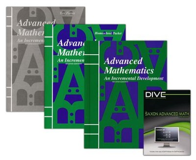 Saxon Advanced Mathematics Kit & DIVE CD-Rom, 2nd Edition  -