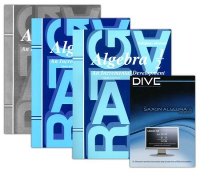 Saxon Algebra 1/2 Kit & DIVE CD-Rom, 3rd Edition   -