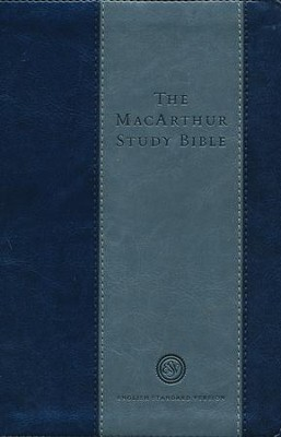 ESV MacArthur Study Bible, Personal Size, TruTone, Charcoal / Blue  -