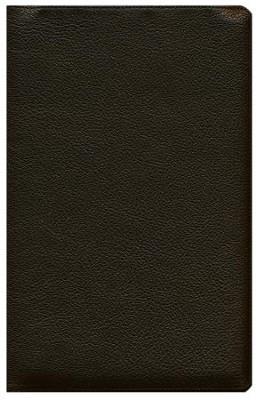 ESV Heirloom Single Column Legacy Bible, Goatskin, Deep Brown - Slightly Imperfect  -