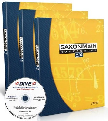 Saxon Math 5/4 Kit & DIVE CD-Rom, 3rd Edition   -