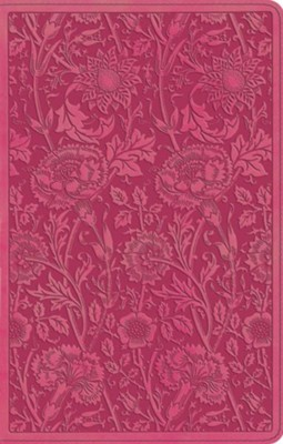 ESV UltraThin Bible, TruTone, Berry with Floral Design  -