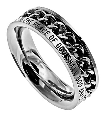 Guarded Girls Chain Women's Ring, Size 6 (Philippians 4:7)  -