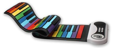 Flexible Roll-Up Piano, Rainbow  -