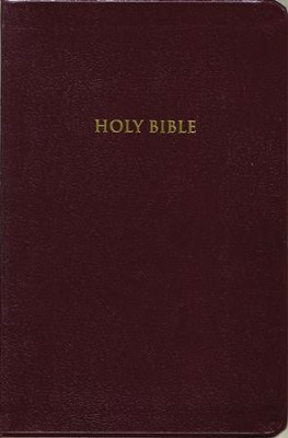 KJV Giant Print Personal Size Reference Bible, Bonded leather, Burgundy  -