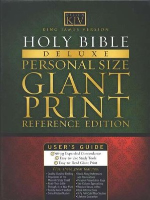 KJV Giant Print Personal Size Reference Bible, Bonded leather, Black  -