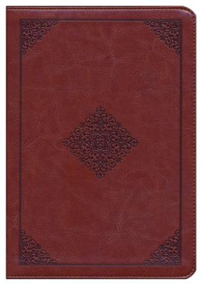 ESV Study Bible, TruTone Imitation Leather, Mahogany, Ornament Design  -