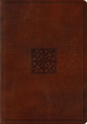 ESV Study Bible, TruTone Imitation Leather, Walnut, Celtic Imprint Design  -