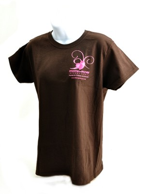 Moms in Prayer Shirt, Brown Ladies Style, Small   -