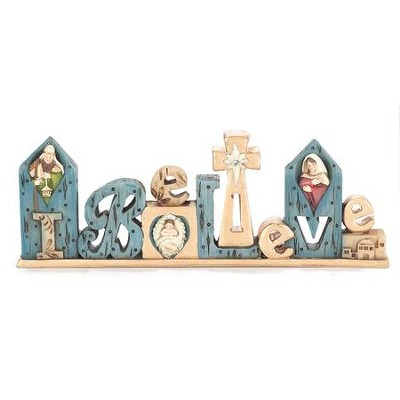 I Believe Nativity Figurine  -