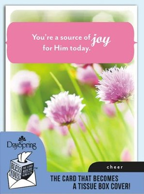 Source Of Joy, Cheer Card and Tissue Box Cover  -