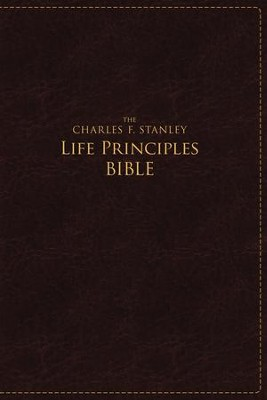 NASB Charles F. Stanley Life Principles Bible, Large Print Imitation leather, Burgundy  -     By: Charles F. Stanley