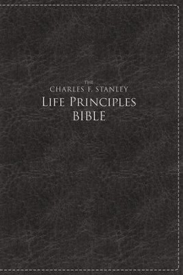 NKJV Charles F. Stanley Large Print Life Principles Bible Imitation leather, Black (indexed)  -     By: Charles F. Stanley