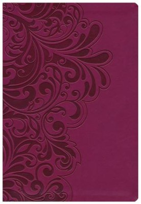 NKJV Study Bible, Second Edition, Leathersoft, cranberry - Imperfectly Imprinted Bibles  -