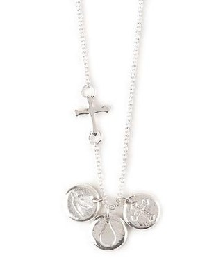 Baptized in Christ, Cross, Dove, Teardrop Necklace  -
