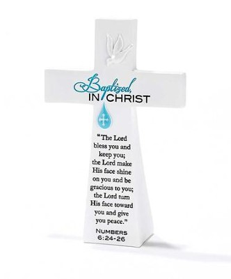 Baptized in Christ Tabletop Cross  -