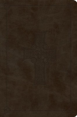 ESV Value Compact Bible, TruTone Imitation Leather, Olive with Celtic Cross Design  -