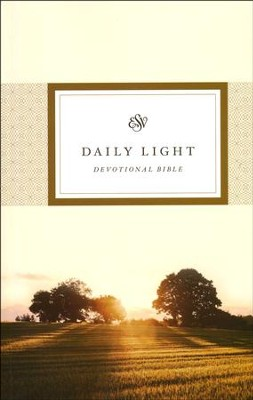 ESV Daily Light Devotional Bible, Softcover  -