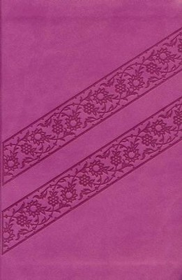KJV Compact Ultraslim Bible--soft leather-look, lotus pink  -