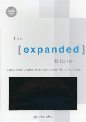 The Expanded Bible, Bonded Leather Black  -