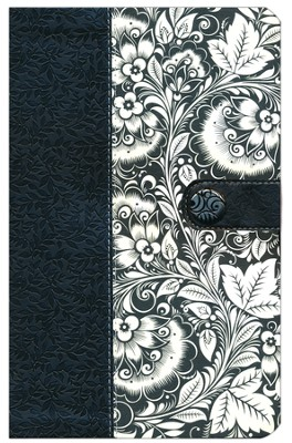 KJV Ultraslim Bible, Leathersoft, black/white  -