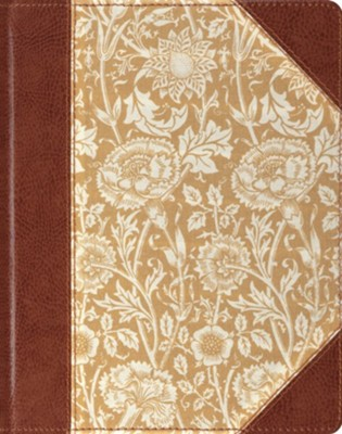 ESV Single-Column Journaling Bible--clothbound hardcover with antique floral design  -