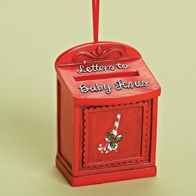 Letter To Jesus, Mailbox Ornament  -