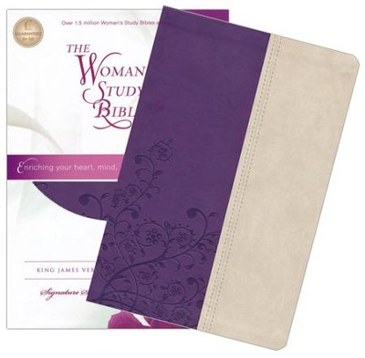 KJV The Woman's Study Bible, Leathersoft, grape/ivory - Slightly Imperfect  -