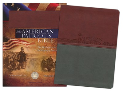KJV American Patriot's Bible, Leathersoft, chestnut  -     Edited By: Richard Lee     By: Richard Lee, ed.
