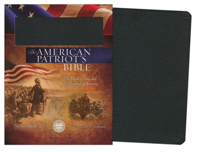 The KJV American Patriot's Bible, Bonded leather, black   -     Edited By: Richard Lee
