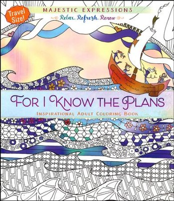 For I Know the Plans - Travel Size Coloring Book  -