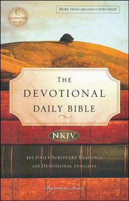 The NKJV Devotional Daily Bible, Softcover, Multicolor   -