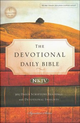 NKJV Devotional Daily Bible, Hardcover, Multicolor  -