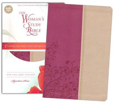 NKJV The Woman's Study Bible, Leathersoft, light cran and tuscany indexed - Slightly Imperfect  -