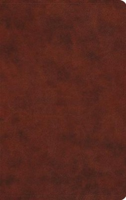 ESV Large Print Value Thinline Bible (TruTone, Chestnut), Leather, imitation, Brown  -