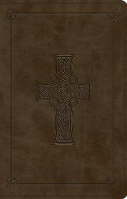 ESV Large Print Value Thinline Bible (TruTone, Olive, Celtic Cross Design), Leather, imitation, Green  -