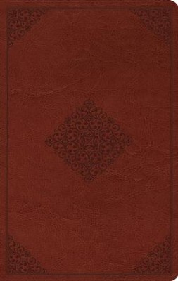 ESV Large Print Value Thinline Bible (TruTone, Tan, Ornament Design), Leather, imitation, Tan  -