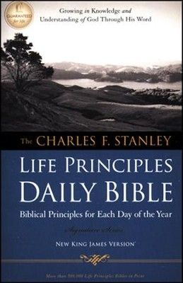 NKJV Charles Stanley Life Principles Daily Bible   -     Edited By: Charles F. Stanley