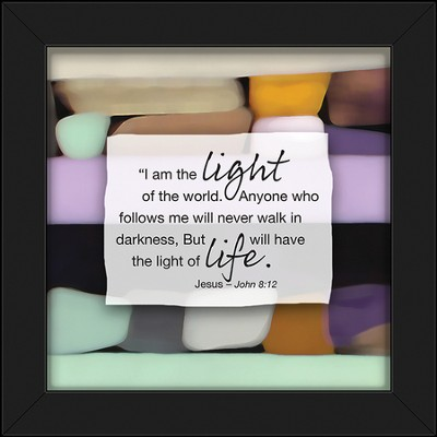 I Am the Light Of the World Framed Art  -
