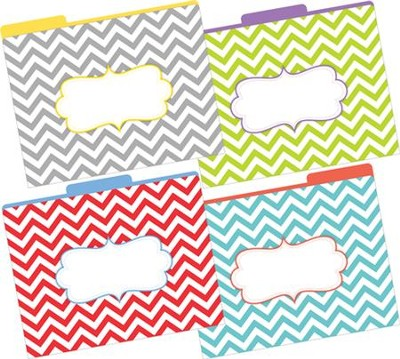 Chevrons Beautiful File Folders (Pack of 12)   -