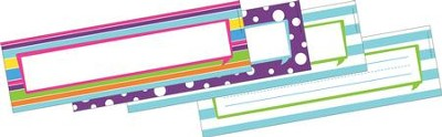 Happy Double-Sided Desk Tags/Name Plates (Pack of 36)   -