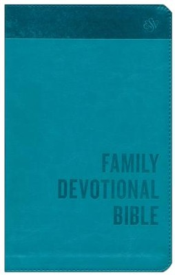 ESV Family Devotional Bible (TruTone, Blue), Leather, imitation, Blue  -